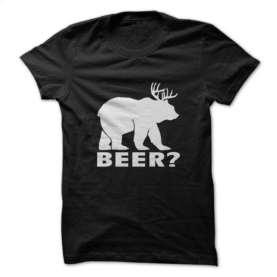 BEAR + DEER = BEER? Funny T-shirt T Shirt, Hoodie, Sweatshirts - shirt outfit #hoodie #clothing