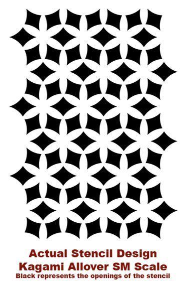Geo Flower Stencils : Stencil mania flower patterns and stencils
