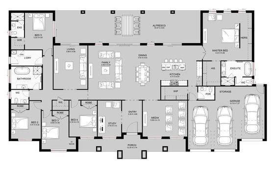 23 Gambar Rumah Mewah 1 Lantai Terbaru Modern Dan Minimalis Rumah Rumah Mewah Denah Rumah