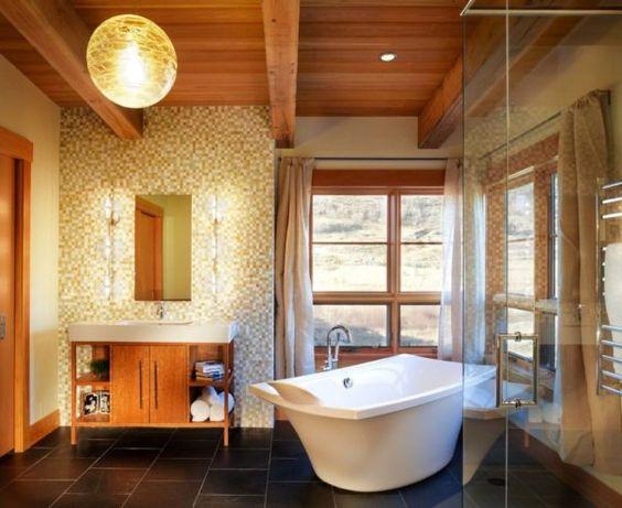 Fotos de ideas de decoración para baños rústicos modernos 2016 - Tendenzias.com