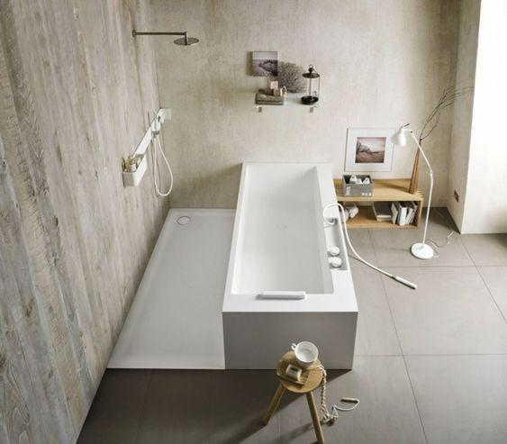 Freistehende Badewanne Corian Rechteckig Handbrause Ergo Nomic ... Freistehende Badewanne Einrichten Modern