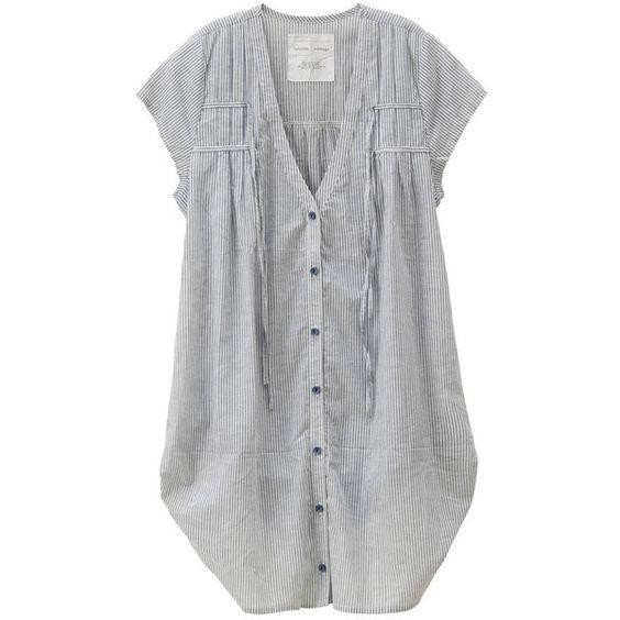 ナイロンミリタリーツイルコート featuring polyvore, fashion, clothing, tops, dresses, shirts and cardigans