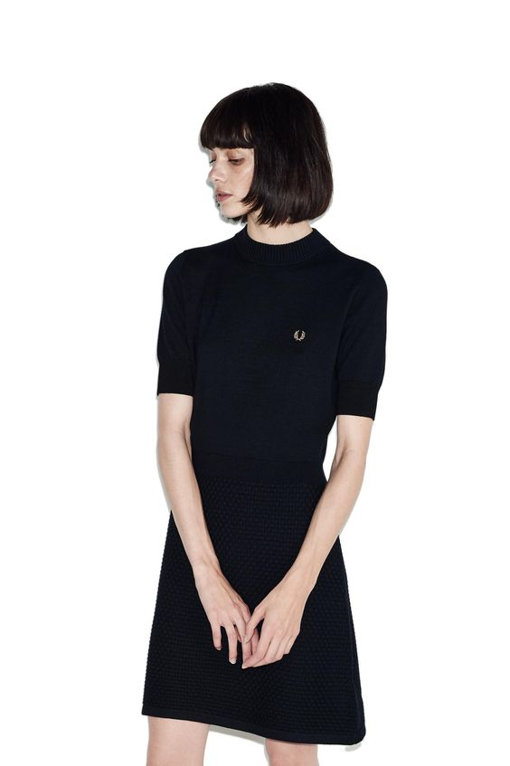 Fred Perry - Knitted Dress Black