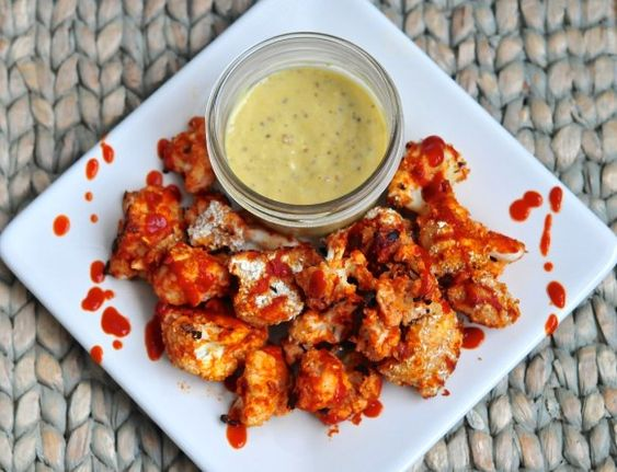 Cauliflower Sriracha Bites With Caesar Dipping Sauce