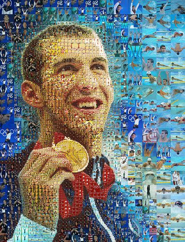 Michael Phelps portrait for The Los Angeles Times / Charis Tsevis