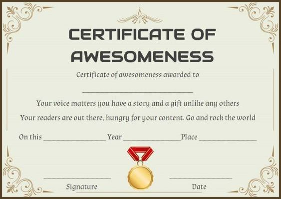 The 10 best Certificate of Awesomeness images on Pinterest
