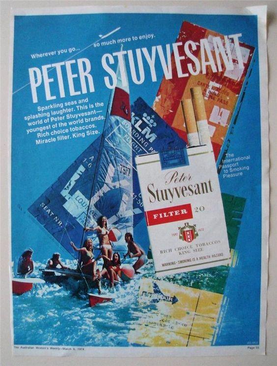 Vintage Rare Cigarette Adverts Peter Stuyvesant Filter