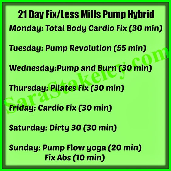 Hybrid workout listing -- 100% prescription free, 21 day fix back order, 21 Day fix hybrid, eat clean, eat to lose weight, Les Mills Pump, PCOS, PCOS chef, Sara Stakeley, Sarastakeley.com, Whitney Way Thore,