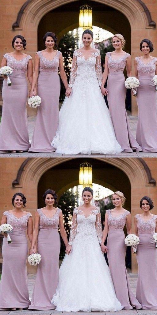 Elegante Brautjungfernkleider Altrosa Lang Spitze Meerjungfrau Kleider Fur Brautjungfern Modellnummer Ah105 Elegante Brautjungfernkleider Preiswerte Hochzeitskleider Und Brautjungfernkleider