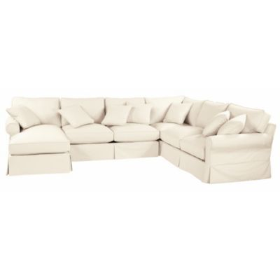 Baldwin Sectional Slipcover Left Arm Chaise Right Arm Loveseat Armless Loveseat Corner