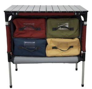 Amazon.com : Camp Chef Sherpa Camp Table and Organizer (Brick) : Sports & Outdoors