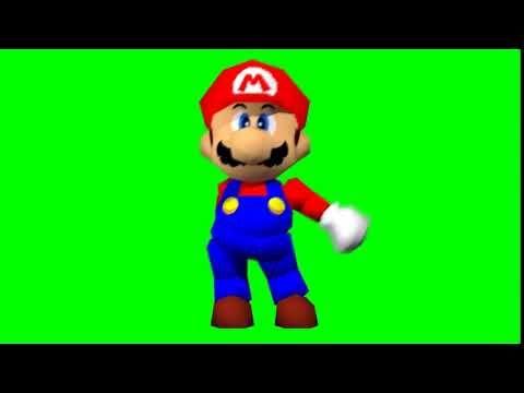 Mario 64 Floss Dance From Fortnite Green Screen Youtube Greenscreen Mario Fortnite