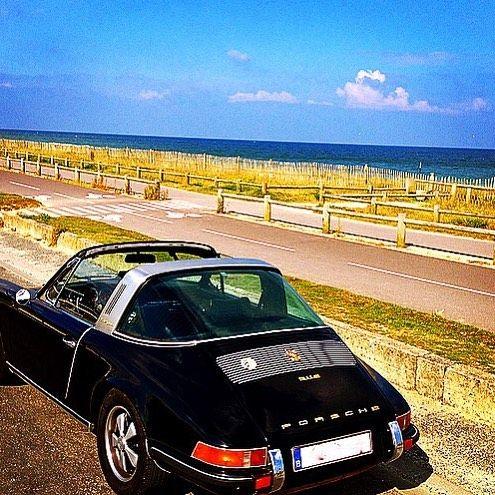 Normandy's beaches . #porsche #carrera #early911 #classicporsche #porscheclassics #porsche911 #porscheclub #instaporsche #aircooled #classic #luftgekült #911S #porsche901 #porscheaday by gilles356