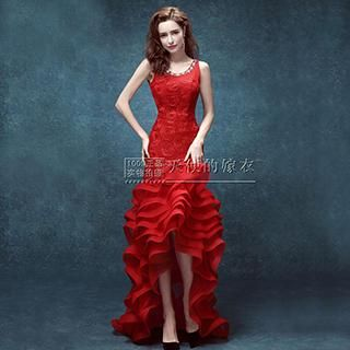 Buy 'Angel Bridal – Rhinestone Rosette Layered Evening Gown' with Free International Shipping at YesStyle.com. Browse and shop for thousands of Asian fashion items from China and more!