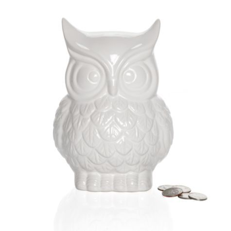 I am loving owls right now.   Owl Coin Bank from #ZGallerie