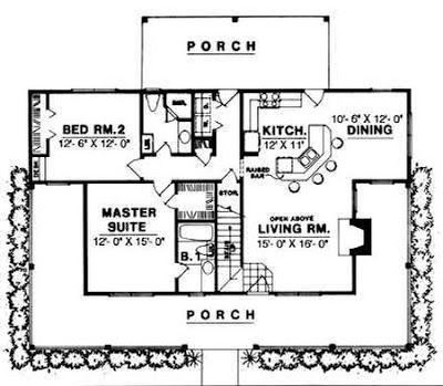 The Southern Designer 1200 1300 Square Feet House Plan