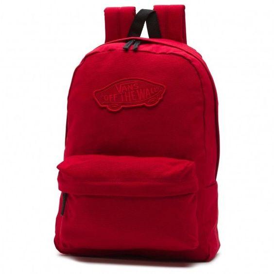 Vans Vans Realm Backpack ❤ liked on Polyvore featuring bags, backpacks, vans backpack, red bags, backpack bags, knapsack bag and rucksack bag