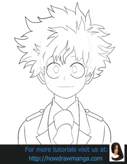 Deku Drawing Easy : drawing, Academia, #Boku, #drawing, Ideas, #Hero, #Izuku, Anime, Drawings, Tutorials,, Drawings,, Manga, Drawing