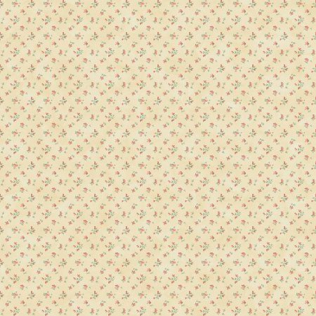 Blue Mountain Cottage Calico Wallcovering, Beige