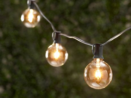 Twinkling Globe String Lights : Outdoor parties, String lights and Light string on Pinterest