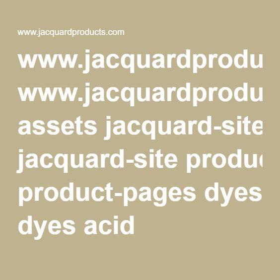 Acid Dye Instructions from Jacquard
