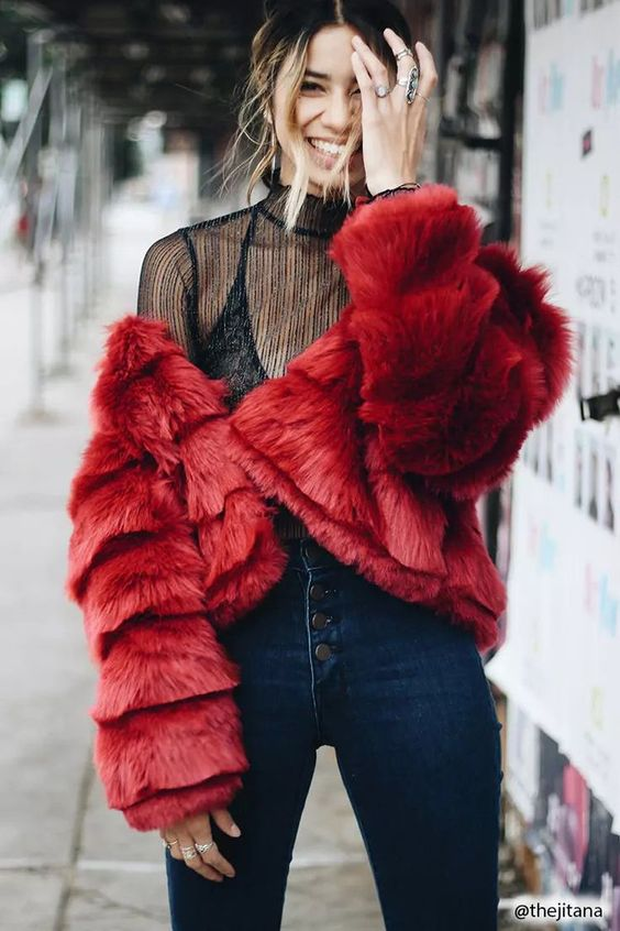 Product Name:Faux Fur Tiered Coat, Category:CLEARANCE_ZERO, Price:49.9