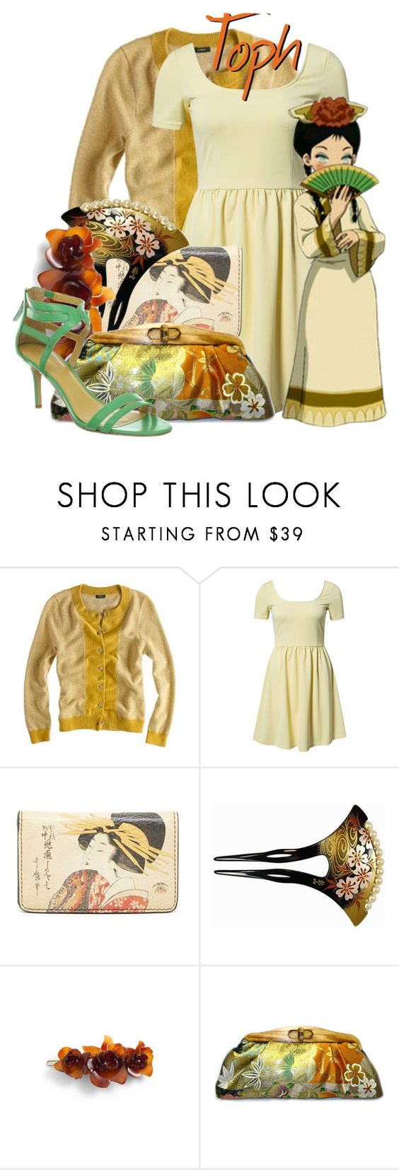"""Toph Beifong from Avatar: The Last Airbender"" by likeghostsinthesnow ❤ liked on Polyvore featuring J.Crew, Vero Moda, Ivanka Trump, Makié, L. Erickson, Uroco and Nine West"