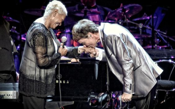Cliff Richard and Dionne Warwick at the Royal Albert Hall. Photo: Christie Goodwin, 2012