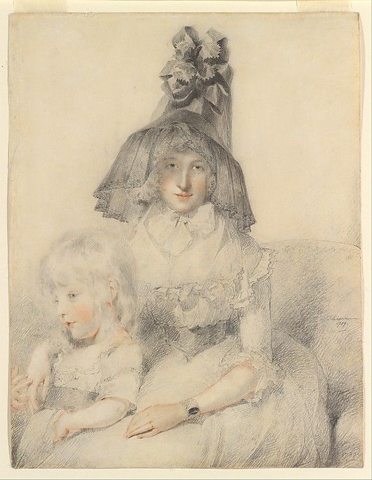 Mrs. Papendiek and Her Son  Sir Thomas Lawrence  (British, Bristol 1769–1830 London):