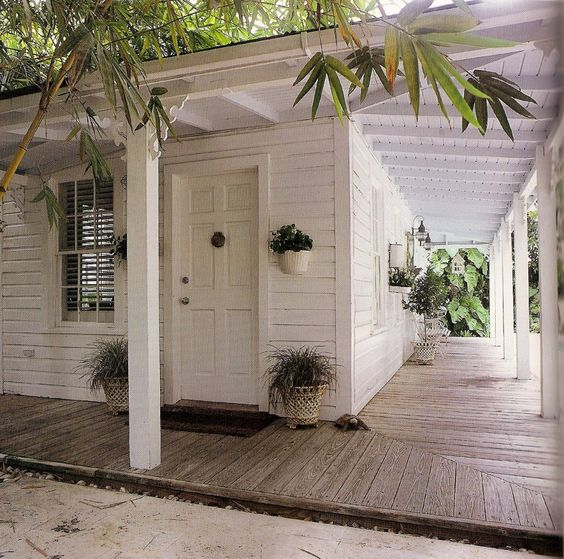 """Harmony cottage simple wrap-around veranda. From """"The Southern Cottage"""" by Susan Sully."""