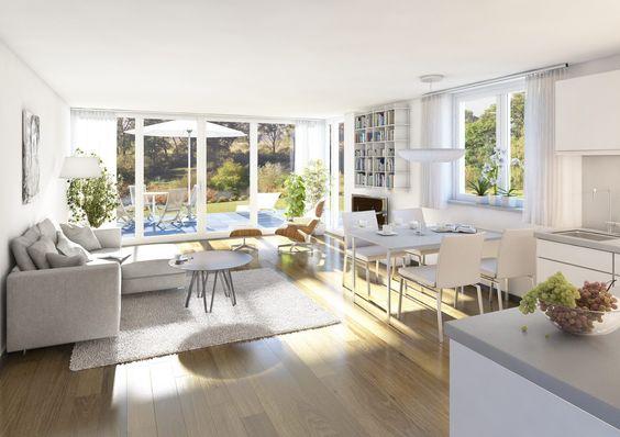 3D-Innenraumvisualisierung Wohnungsbau