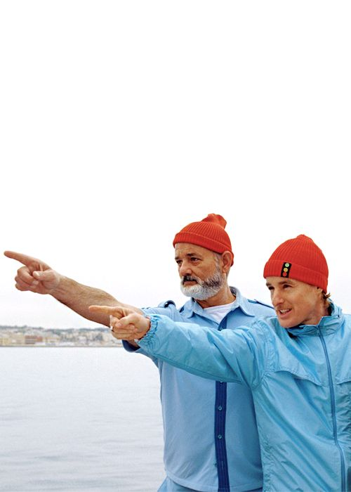 "The Life Aquatic with Steve Zissou - Wes Anderson.  - I'm gonna fight you, Steve. - You never say, ""I'm gonna fight you, Steve."" You just smile and act natural, and then you sucker-punch him."