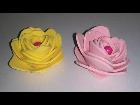 اسهل طريقة تصنيع اشكال ورود من ورق الفوم خطوة بخطوة اشغال فنية اصنعها بنفسك شطورة Youtube Rose Plants Flowers