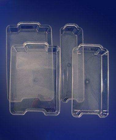 Another great find on #zulily! Four-Pack Refrigerator Organizer Set #zulilyfinds