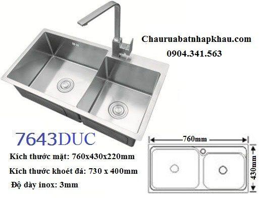 Tìm hiểu thông số của chậu rửa bát AMTS 7643DUC