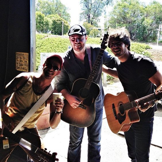 Had a blast playin n hangin with @chrisyoungmusic and @morgan_evans