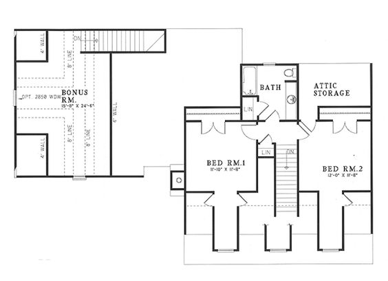 Country House Plan 61166 Level Two