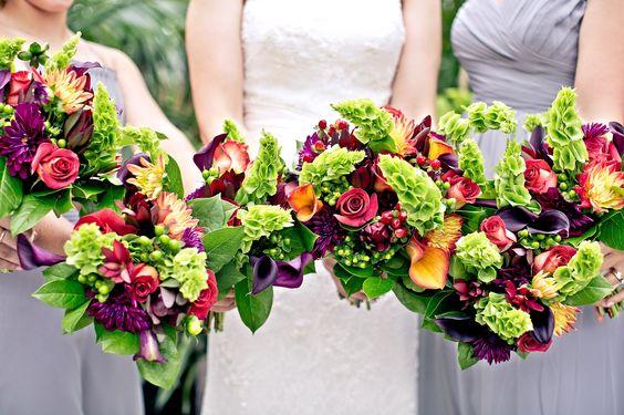 Fall Wedding Bouquets by Planterra