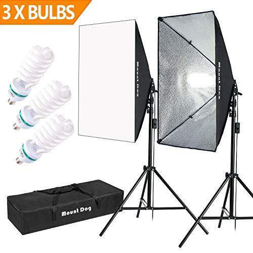NEW-Photo Backdrop+Stand SET 1350W Photography Softbox Studio Lighting Video KIT