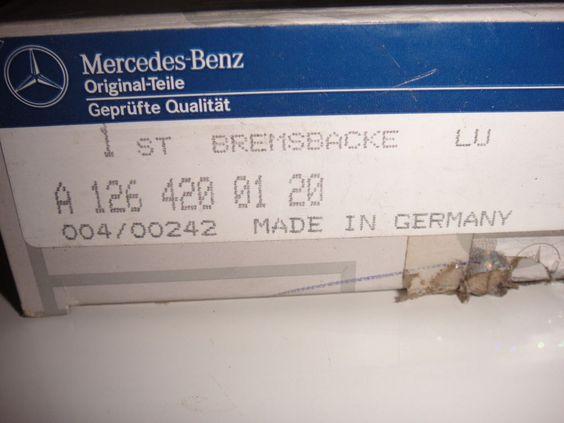 Bremsbacke LU für Mercedes Benz 200 D Original Ersatzteil A1264200120