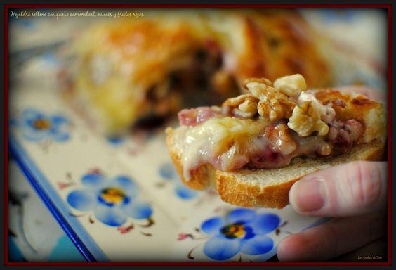 Hojaldre relleno con queso camembert  nueces y frutos rojos  tererecetas las recetas de tere 05