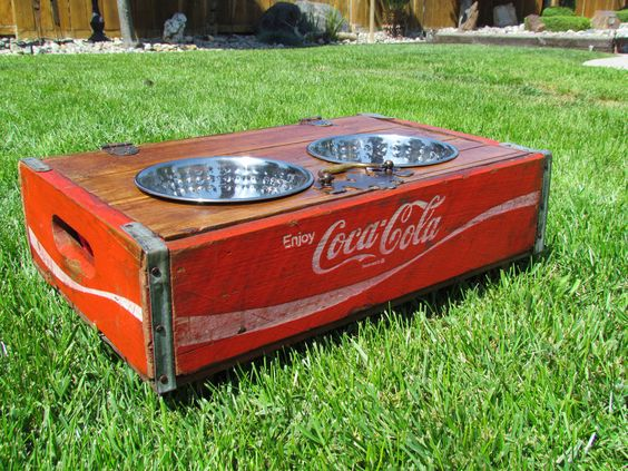 When she's feeling a little retro: Coca Cola  repurposed upchucked crate recycled via Etsy.