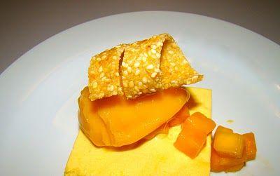 Küchentanz: Mangofool: Parfait, Sorbet, Salat und Sesam-Ingwer-Hippe