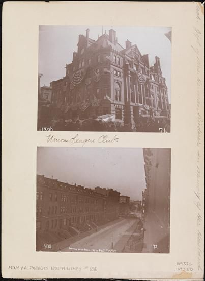 [C. Union League Club ; D. Looking west from 145 West 94th Street.]