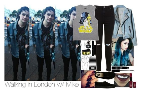 """""""Walking around London w/ Michael."""" by insanenyc ❤ liked on Polyvore featuring Miss Selfridge, Vans, Forever 21, NYX, Christian Dior, Lord & Berry, Edge Only, Accessorize and MICHAEL Michael Kors"""