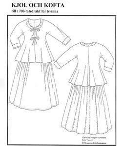 mönster 1700-tals klänning
