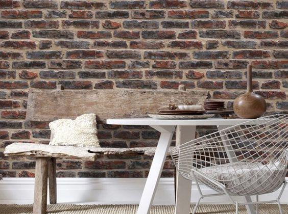 Papier peint effet brique - graham&brown