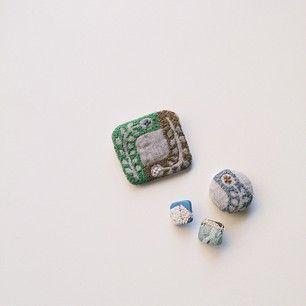 刺繍 キーホルダー 包みボタン - Google 検索