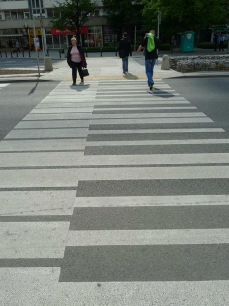 Who wants to walk on a crosswalk when you could walk on music?