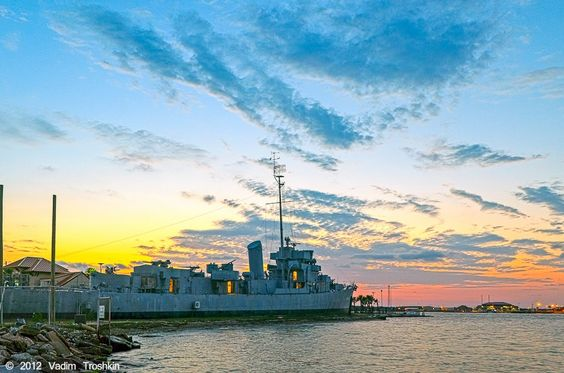 Seawolf park features a 3 story pavilion the uss cavalla for Galveston fishing report seawolf park